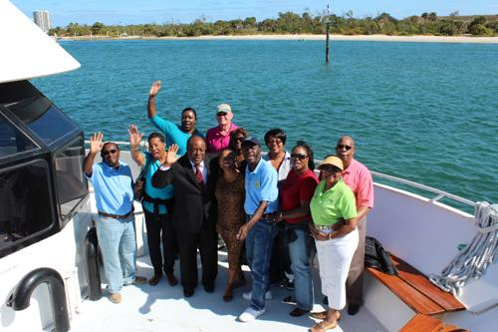 Riviera Beach Mayor Thomas A. Masters and members of City Council of Freeport and other government officials in 2012.